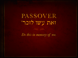 Passover - Remember