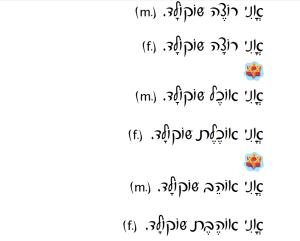Pronoun-Verb-Direct Object Script Font