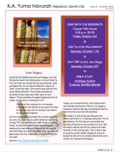 KA Yuma Newsletter OCT 2014 Newsletter p 1