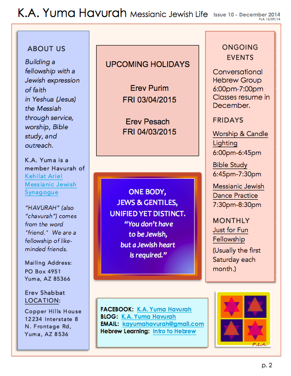 KA DEC 2014 Newsletter-page two