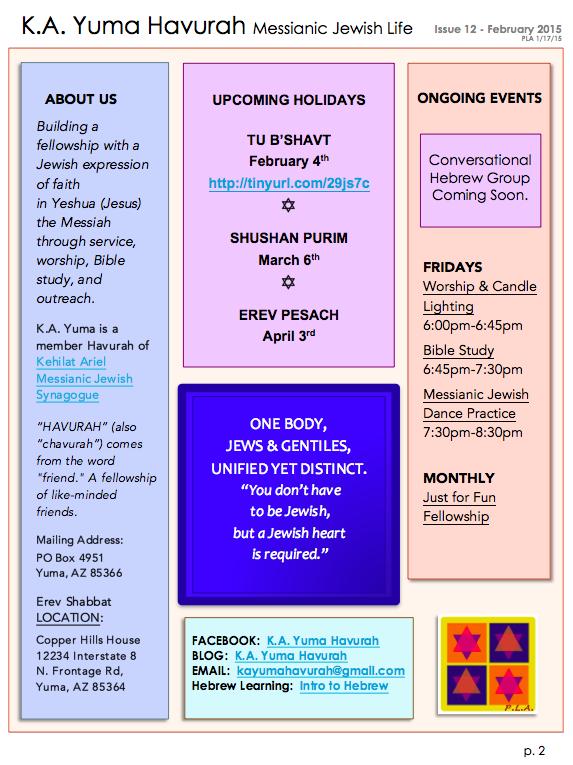 KA Yuma FEB 2015 Newsletter - 2